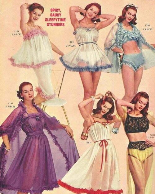 1950s-Lingerie-Sleepwear