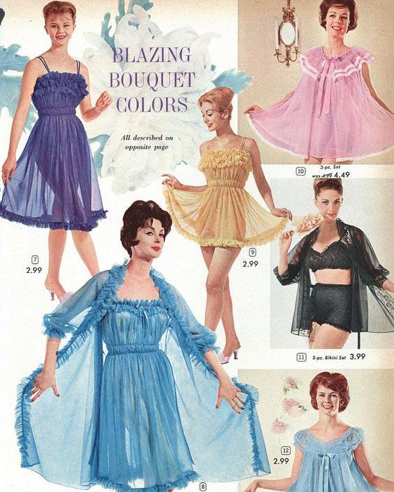1960s Lingerie Sleepwear