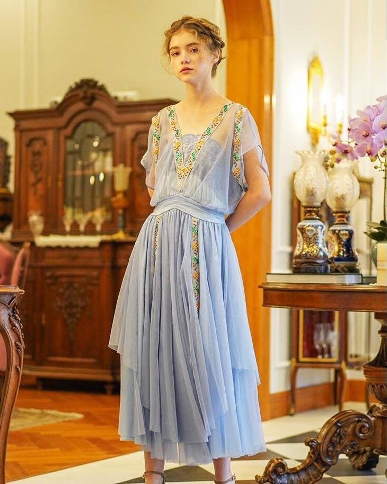 Fairy Vintage Blue Dress