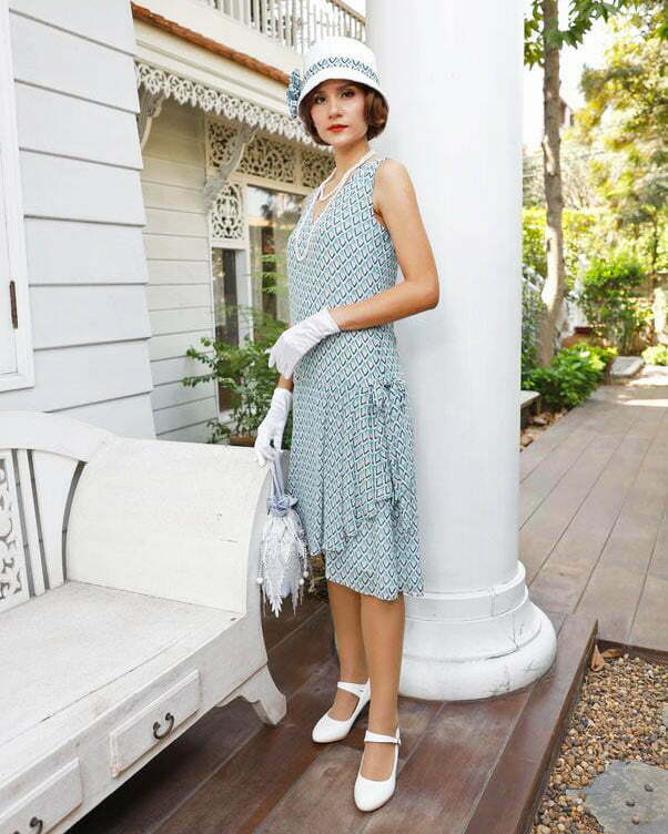 1920s blue dresses