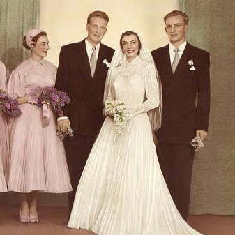 History Witnessed Wedding Dresses In The 1950s Fashion