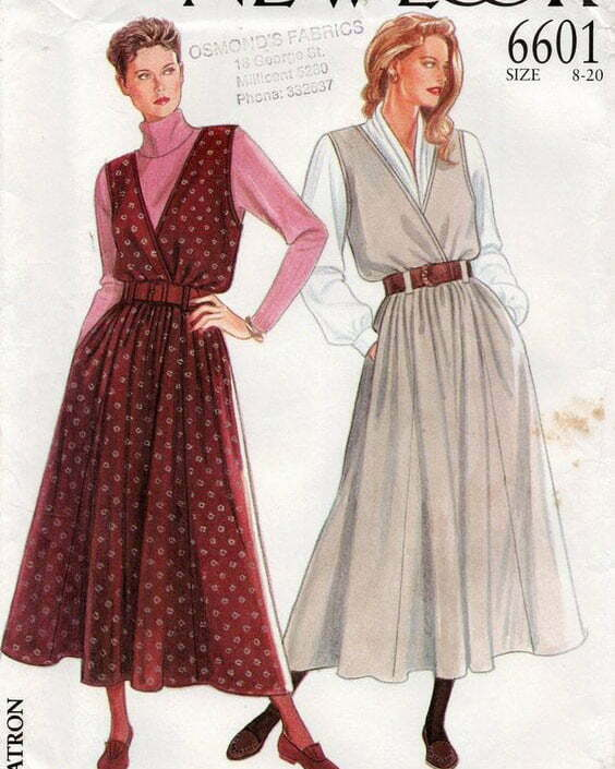1980s Vintage Sewing Pattern