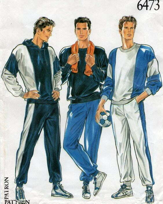 1980s men's sewing patterns