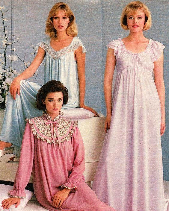 1980s women's sleepwear