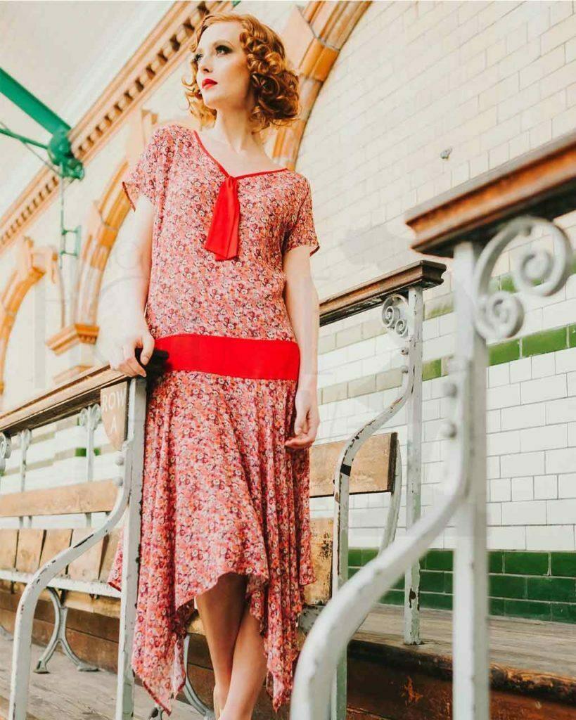 20s Daisy Hankerchief Dress