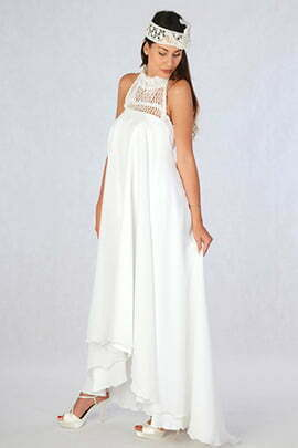 Crochet and Chiffon Wedding Dress