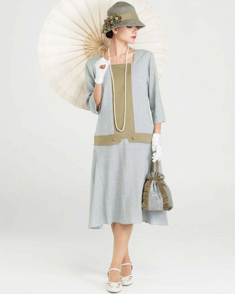 Great Gatsby linen dress