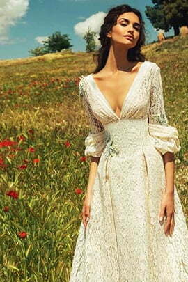 Hippie Backless Wedding Dress
