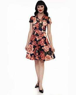 3832 Floral Swing Dress