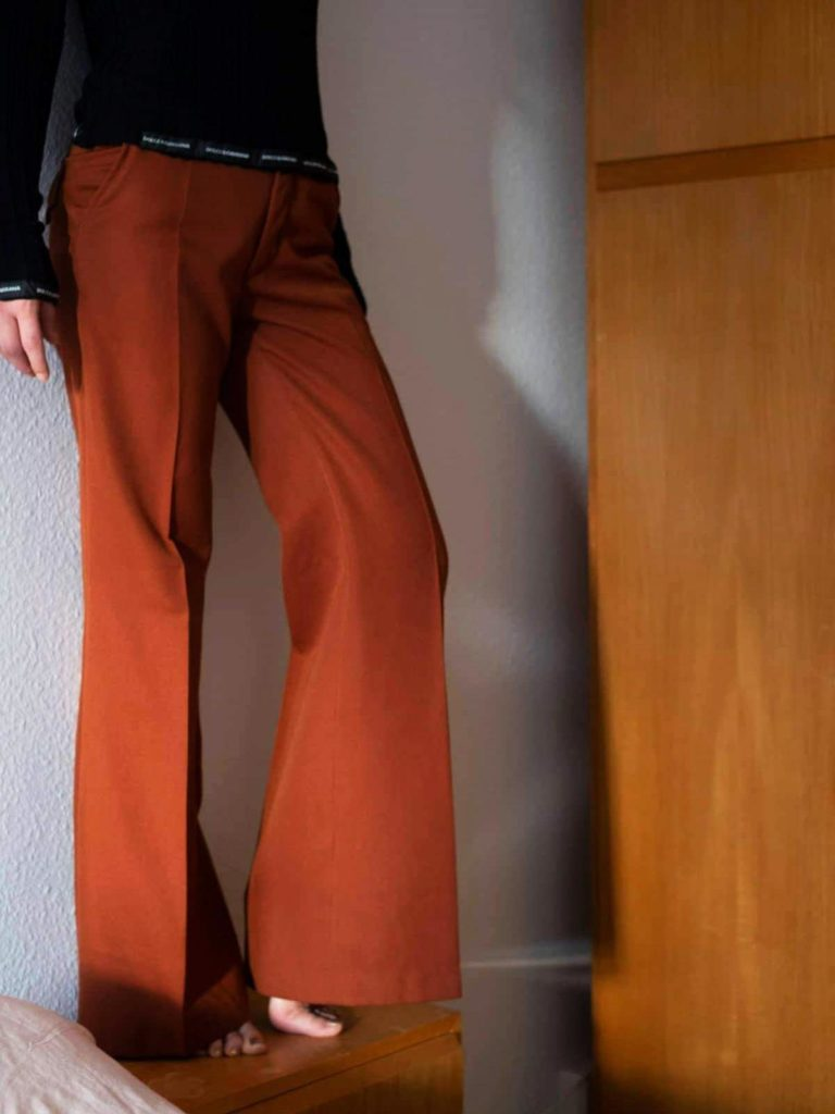 70s Wool Blend Flares - Flared Pants - Bell Bottoms - Wide Leg - S