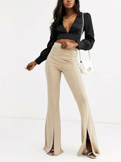 PrettyLittleThing flared trousers