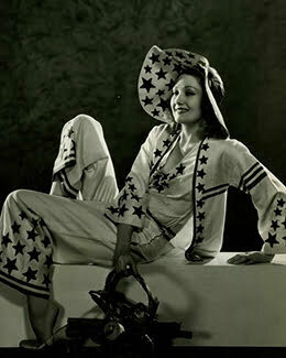 1930s beach pajamas