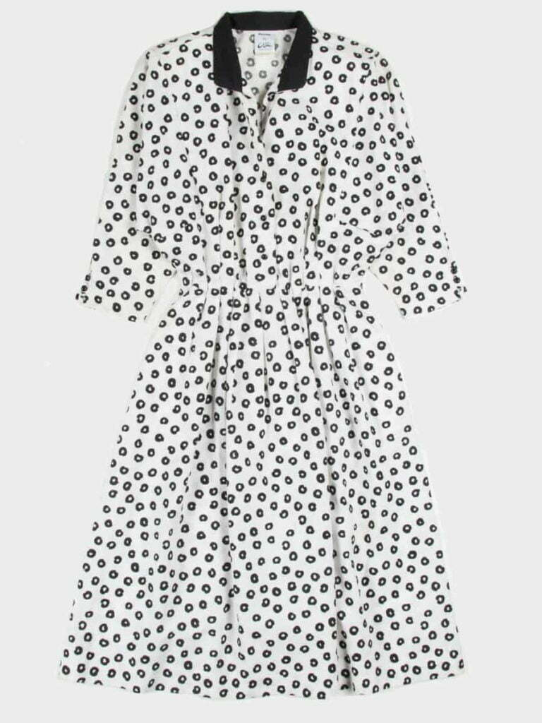 Vintage Dots Shirt Dress