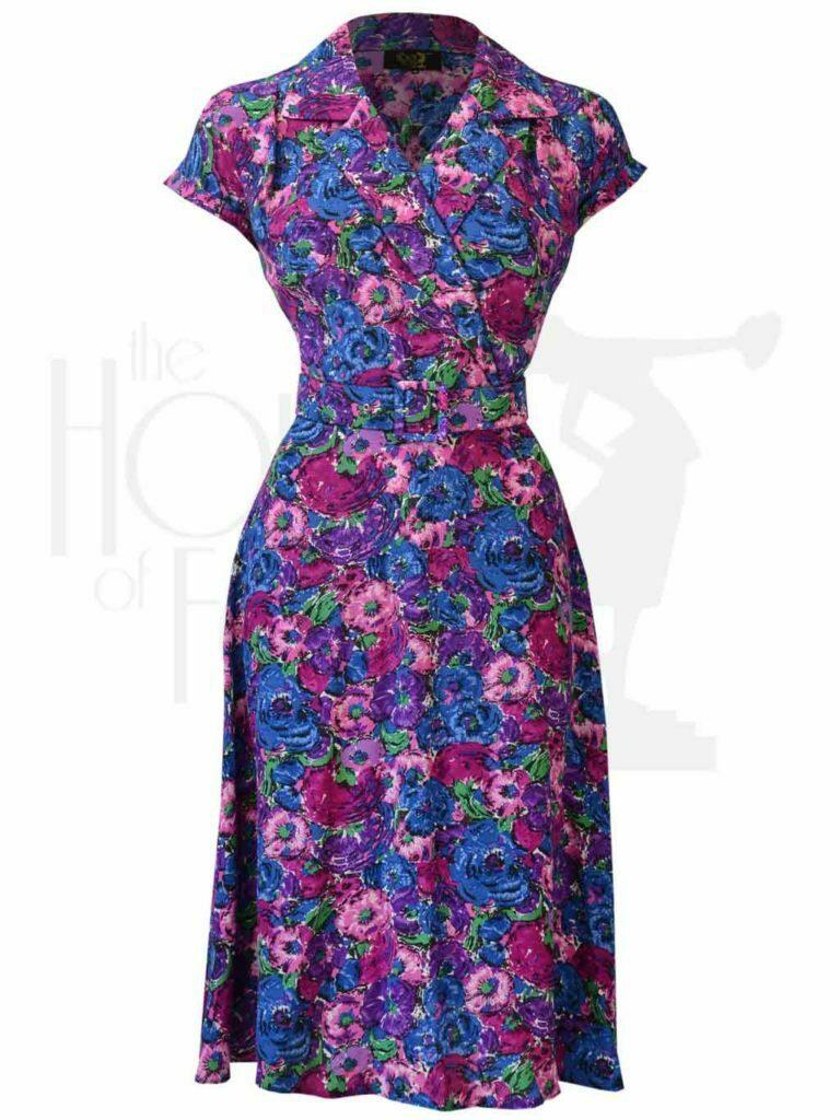 40s Gracie Wrap Dress - Bloomsbury