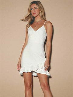 Sealed With a Kiss White Bodycon Dress