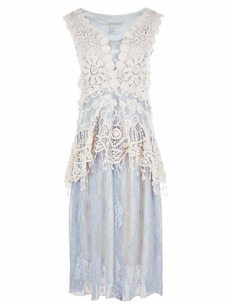 2 PCS Summer Womens Vintage Lace Gatsby 1920s Cocktail Dress with Crochet Vest