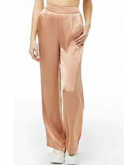 You've got style! 22 people have bought this recently. Piped Wide-Leg Satin Pants