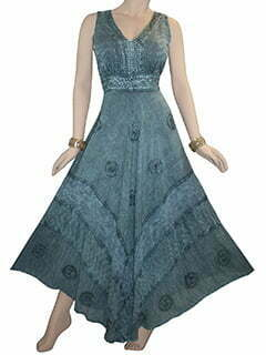 Click to enlarge 1011 D Romantic Evening Empire Victorian Sleeveless Long Flare Dress
