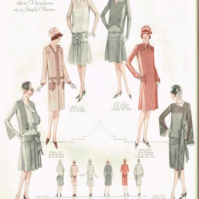 1920s Sewing Patterns – House Dress VS. Flapper look