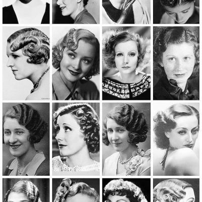 The Lost Art-1930s Short Hair Glam Wave Style
