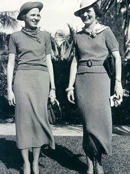 Two women smling