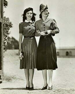Two women with skirts