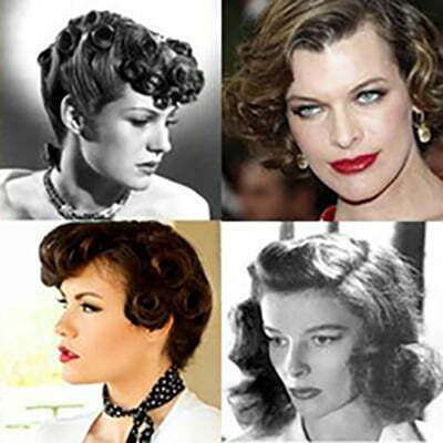 1940s Hairstyles-5 Short hair Fashion