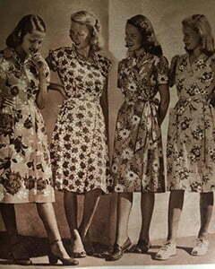 4 women with wrap dress
