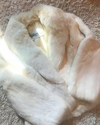 a white fur coat