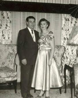 a couple with big dress