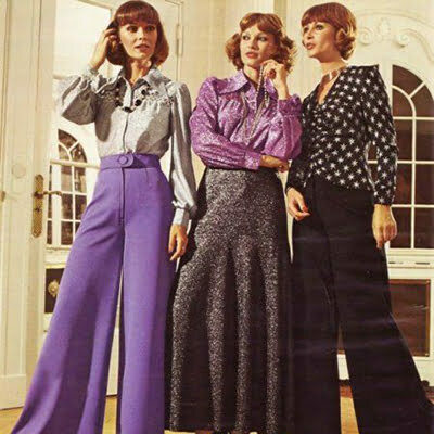 1970s Women Fashion: Mixed Match from 20s, 40s & 50s