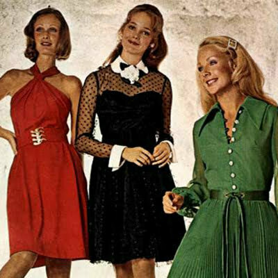 Retro Theme Dress-70s Vintage Dress Fashion