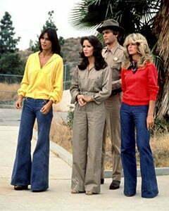 three 1970s pants