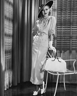 a woman with a handbag