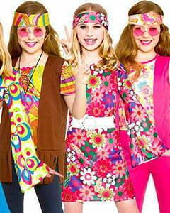 Three girls with hippie style