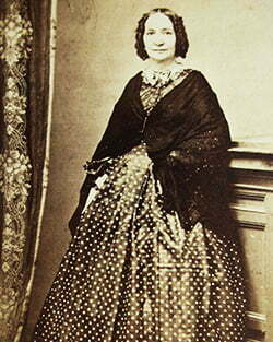 a woman with long dress