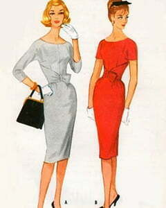Two women with simple dresses