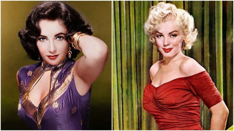 Short bouffant style: Elizabeth Taylor, Marilyn Monroe