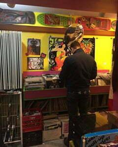 a vintage CD shop