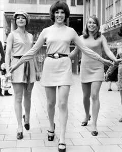 Mary Quant with Mini dress