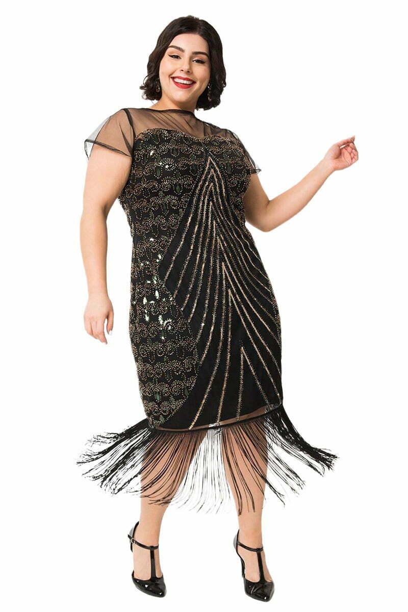 plus-size 1920s formal dress