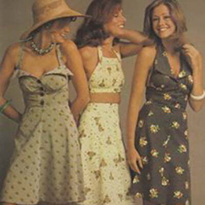1970s Summer Fashion-Tops & Dresses