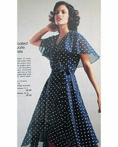 a polk-dots dress