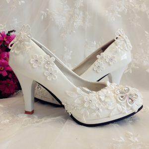 1940s-Floral-lace-wedding-shoes