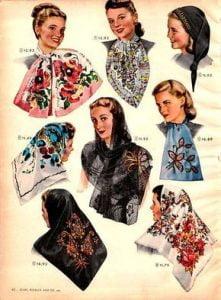 1940s- Scarves