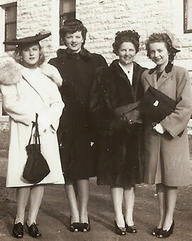 4 women weared coats