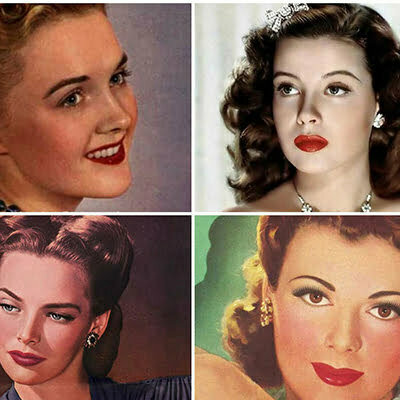 1940s Women's Makeup Inspired by Hollywood Starlets