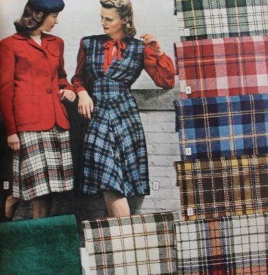 1940s Fashion: Popular Color & Fabrics