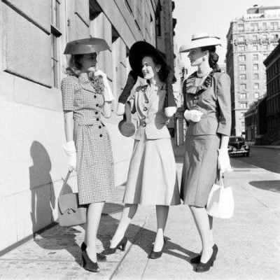 1940s Women's Fashion-Witnessed Two Types of Trends in Women's Wear