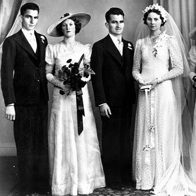 1940 Wedding Dress-Unpretentious Romance of War